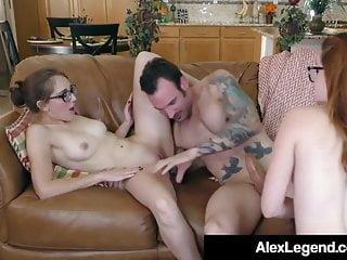 Blowjobs Cumshots movie: Alex Legend Cums On 4 Eyed Amarna Miller & Nickey Huntsman!
