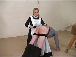 Femdom Spanking Maid video: Female domination