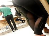 apple sore whooty in black tights