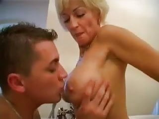 Blowjobs Matures video: Mature milf loves young cocks