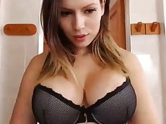 CHARMY BUSTY BLONDE CAMGIRL PLAYING WITH PUSSY