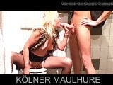 Blonde german sperm whore