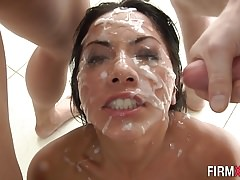 Blowbang asian bukkaked