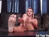 I want you to cum on my feet CEI