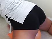 Ebony Ass Hump In Booty Shorts