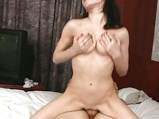Skinny Goth fucked on bed