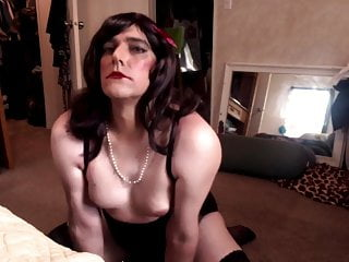 Sissy CD Bitch Doing What She Does Best