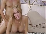 Busty amateur blonde Mary getting fucked hard