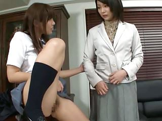 Lesbians Asian Japanese vid: Asian Teacher Resistance is Futile Against Schoolgirl Pussy