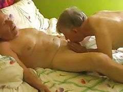 Two gay old mature grandpa blowjob in the bed | Porn-Update.com