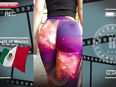 Increíble Super leggings caminar en la calle (2018)
