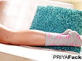 Sexy Indian MIlf Priya Rai using her vibrator to cum