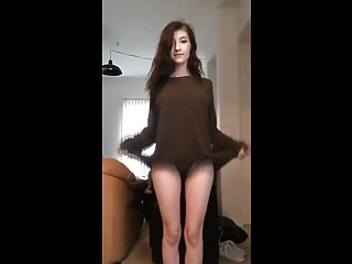 Horny Facebook Teen Flashing Her Young Tits