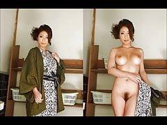 Asian ubrana rozebrana z muzyką