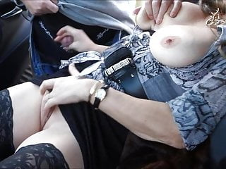 Amateur Hairy Milf video: Horny German wife as a street worker for dirty sex games