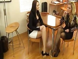 Super horny girls knows how to give a good footjob