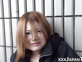 Public Nudity Asian High Heels video: Babe from Japan plays with her pussy on the streets