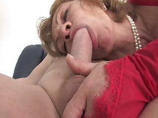 Lingerie Granny xxx: He loves grandmas asshole