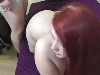 Fat redhead anal cream pie