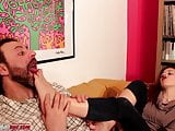 Amanda VS Ale Third Part - Foot Domination