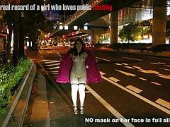 Japonaise fille grassouillet publique clignotant diaporama show4