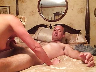 Cuckold Blonde Creampie video: Wife wishing I was a BBC