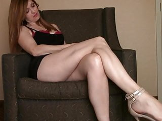 Femdom Foot Fetish High Heels video: Legs Worship JOI