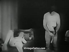 La actriz folla con el agente para un papel (1920s Vintage)