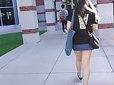 asian denim mini skirt