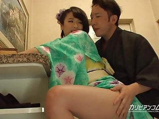 Japanese Tits Kissing video: Harua Narimiya :: Yukata Fucking In The Entrance 1 - CARIBBE