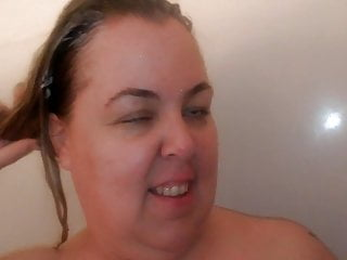 Church mom lori takes a shower after sex