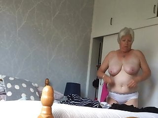 Busty changing mature again caught