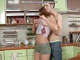 Porn doll kitchen sex video scene 2