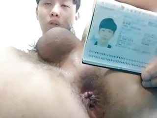 Asian boy with proof of age