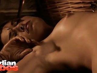 Aishwarya stripping sari exposing natural tits...
