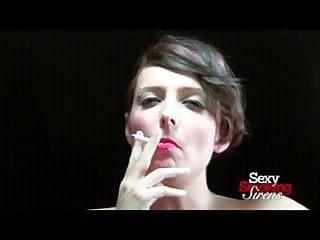 Smoking Fetish Doll Emily Smokes an All-White Topless