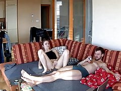 She Masturbates Her Cunt and He Ignores Her