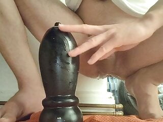 Anal with my largest Buttplugs (9,5cm)