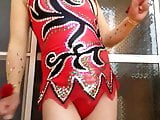 CROSS DRESSING Competitive leotard red