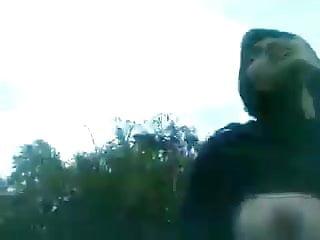 Asian indian bitch out of doors flashing