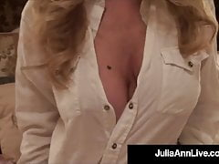 Big Boobed Cougar Julia Ann Titty Bangs A Lucky Hard Dick!