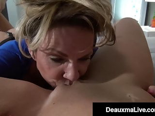 Strap On Cougar Deauxma Fucks Savannah Steele With Her Cock!