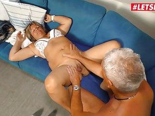 LETSDOEIT - He Easily Seduces Old Deutsche Grandma