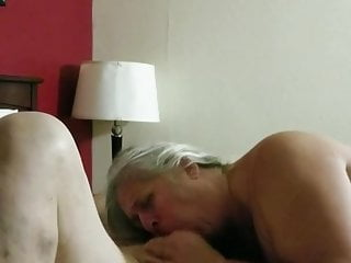 72 yr swallowing blowjob from from my 45...