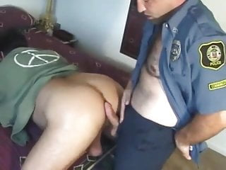 Hot bear and police officer...