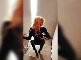 Softcore Latex video: Blonde Cougar escort various dancing 3 HOT