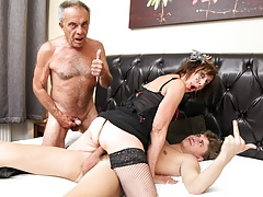 fucked up father and son pounding an old bitch free full porn