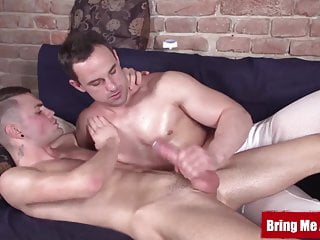 Hunky daddy massages and strokes big ass...