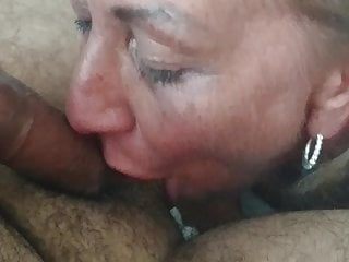 Sexy milf blows me away .