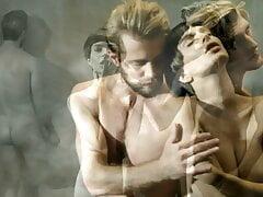 Emily Ratajkowski nude photoshoot with two guys